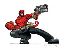 Hellboy by misterbitter