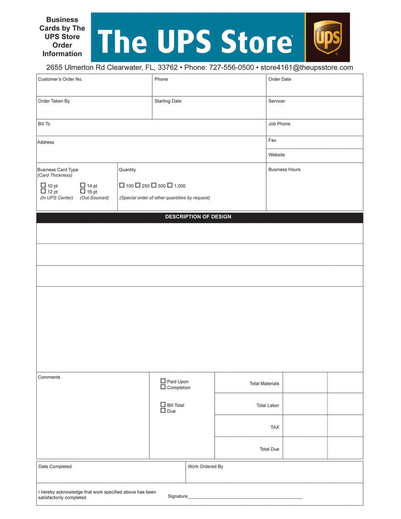 Business Card Order Form By Darthpaul99 On Deviantart