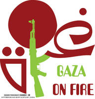 GAZA ON FIRE LOGO by mouaz