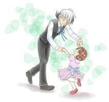 Black Jack and Pinoko waltzing by Sibauchi
