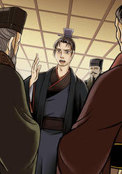 Chen Gong recommends Cao Cao as Inspector of Yan by Sibauchi