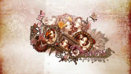 ...Sakura Petals Wallpaper... by KiyaSama