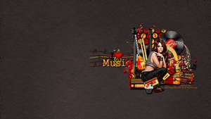 I Love Music Wallpaper by KiyaSama