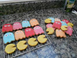 Pacman Cookies! by Sierrya