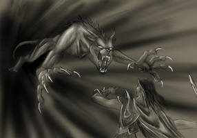 Sketch Commish - Irago's Wrath by jocarra