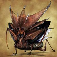 Endless Realms bestiary - Horned Beetle by jocarra