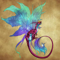 Endless Realms bestiary - Faerie Dragon by jocarra