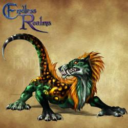Endless Realms bestiary - Malivor by jocarra