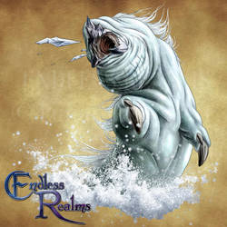 Endless Realms bestiary - Ice Worm by jocarra