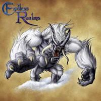 Endless Realms bestiary - Yeti by jocarra