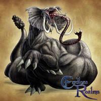 Endless Realms bestiary - Grootslang by jocarra