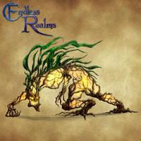 Endless Realms bestiary - Spriggan by jocarra