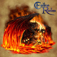 Endless Realms bestiary - Fire Dragon Scion by jocarra