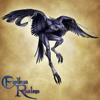 Endless Realms bestiary - Tengu by jocarra