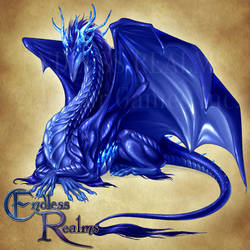 Endless Realms bestiary - Sapphire Dragon by jocarra