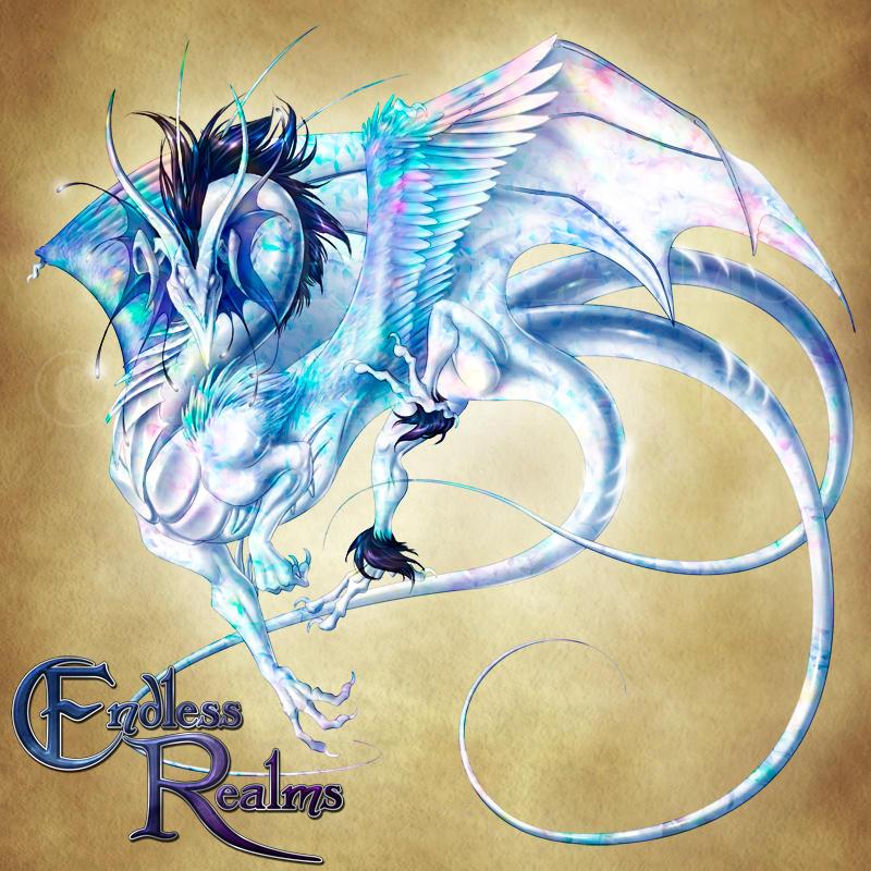 Endless Realms bestiary - Opal Dragon by jocarra