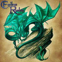 Endless Realms bestiary - Malachite Dragon by jocarra