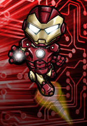 Chibi Iron Man by artildawn