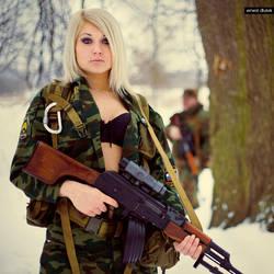 Girls and Guns I by digital-story