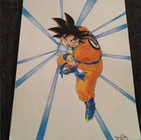 Goku - Kamehameha - Dragonball Z by pandapopx