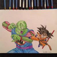King Piccolo VS Goku - Dragonball by pandapopx