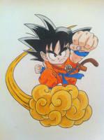 Flying Nimbusss - Goku by pandapopx