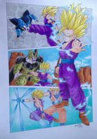 The Cell Games - Gohan - DragonballZ by pandapopx