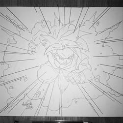 Gohan - Dragonball Z SSJ by pandapopx