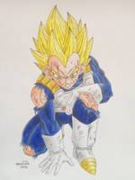 Prince Vegeta - Super Saiyajin by pandapopx