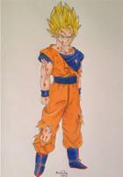 Ascended Super Saiyajin Goku :) by pandapopx