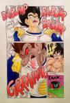 Vegeta's Transformation into Oozaru - Manga Style by pandapopx
