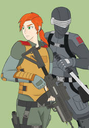 Scarlett and Snake-Eyes by Oc3an-Li0ns