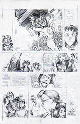 Monster Sketch page 4 pencils by CD007