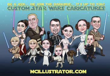 Custom Star Wars by mcillustrator