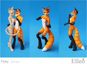 Fox furry bjd doll 15 by leo3dmodels