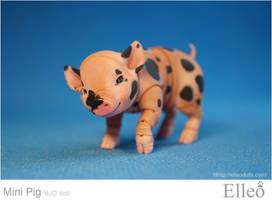Mini Pig doll bjd 01 by leo3dmodels