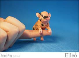 Mini Pig doll bjd 03 by leo3dmodels