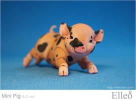 Mini Pig doll bjd 04 by leo3dmodels
