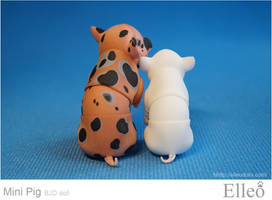 Mini Pig doll bjd 10 by leo3dmodels
