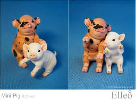 Mini Pig doll bjd 08 by leo3dmodels