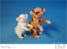 Mini Pig doll bjd 09 by leo3dmodels