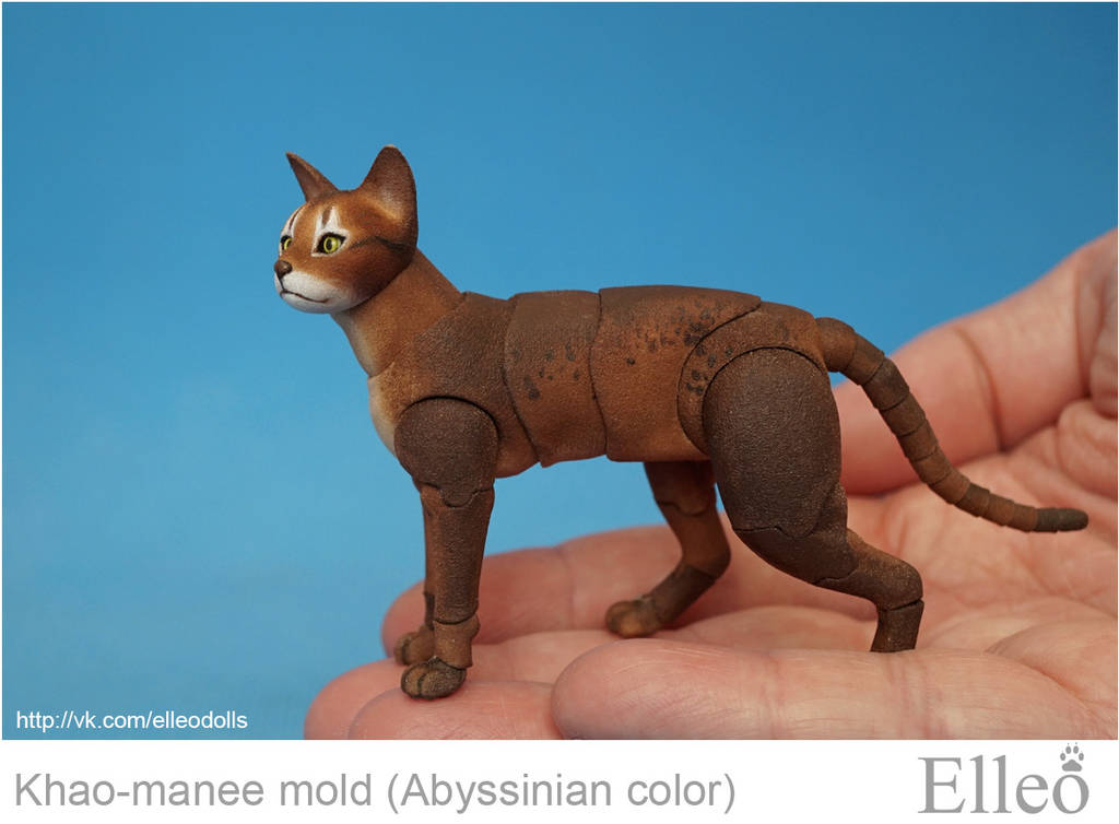 Abyssinian cat bjd doll 01 by leo3dmodels