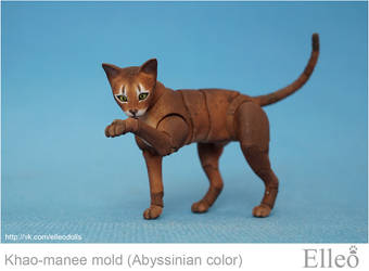 Abyssinian cat bjd doll 02 by leo3dmodels