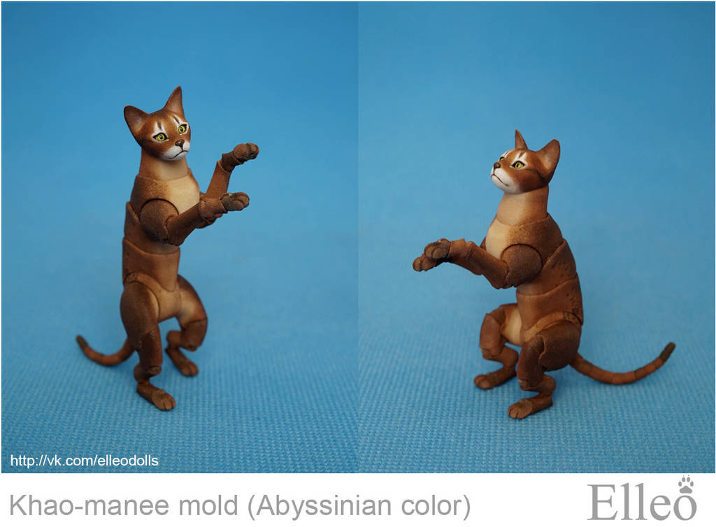 Abyssinian cat bjd doll 03 by leo3dmodels