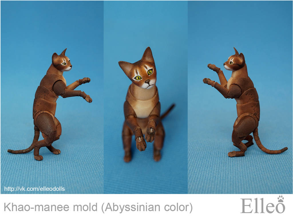 Abyssinian cat bjd doll 04 by leo3dmodels