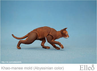 Abyssinian cat bjd doll 05 by leo3dmodels