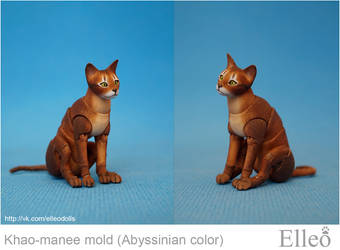 Abyssinian cat bjd doll 06 by leo3dmodels