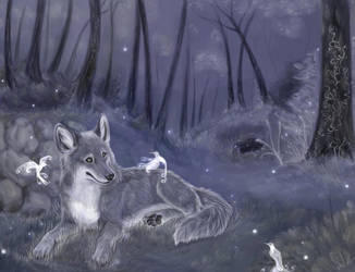 The wolfis and fairiebirds by daisy7