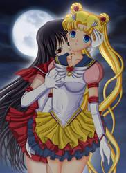 Sailor Mars X Eternal Sailor Moon by Artemisumi