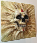 Skull - Human Painted 2 by WireClay